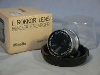 '  50mm -MINT-BOXED- ' Minolta E Rokkor 50MM 4.5 Enlarger Lens Cased Boxed -MINT- £17.99